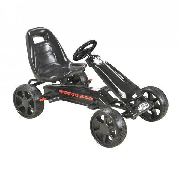 Black Pedal Sports Kids Go-Kart with EVA wheels