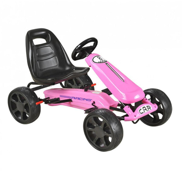 Pink Pedal Sports Kids Go-Kart with EVA wheels