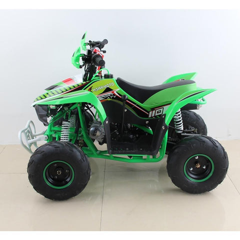 Hawkmoto 110cc Wasp Kids Quad Bike - Green 2