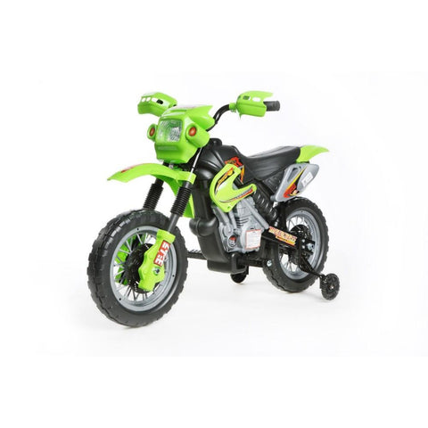 Mini Motocross - 6V Kids' Electric Ride On Bike in Green