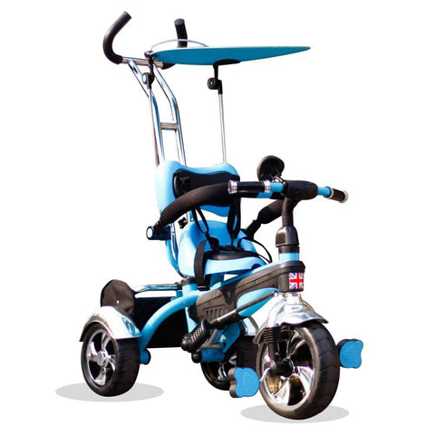 Kyootsi Baby Tricycle Three Wheel 4 in 1 Kids Smart Trike - Blue