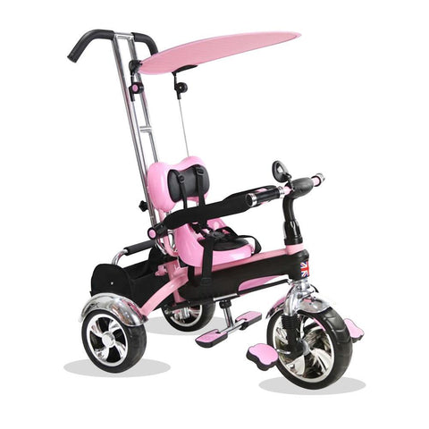 Kyootsi Baby Tricycle Three Wheel 4 in 1 Kids Smart Trike - Pink