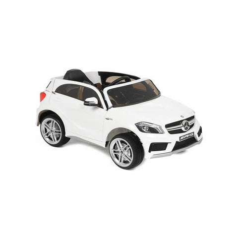 Licensed Mercedes A45 Sports 12v Ride on Jeep with Remote - White - Openable Doors 3