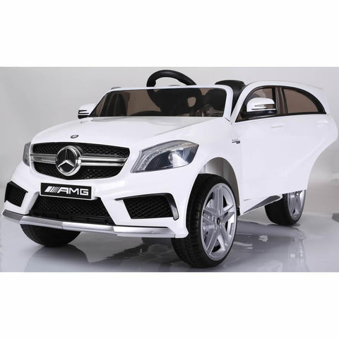 Licensed Mercedes A45 Sports 12v Ride on Jeep with Remote - White - Openable Doors 2