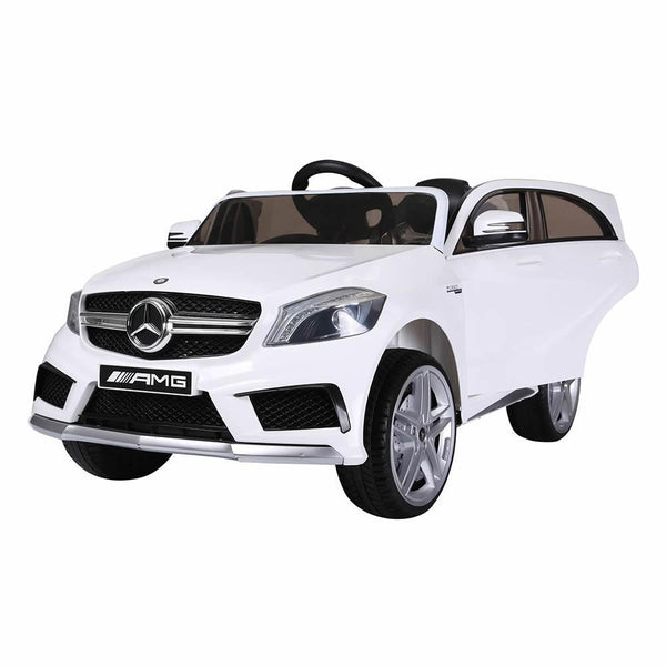 Licensed Mercedes A45 Sports 12v Ride on Jeep with Remote - White - Openable Doors