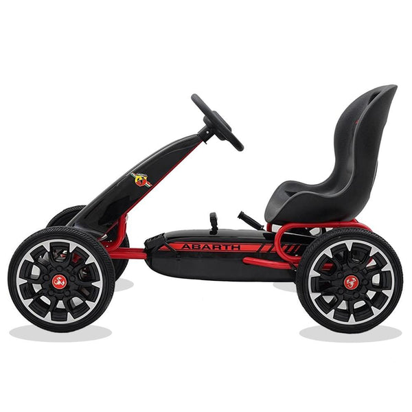 Licensed Abarth Kids Ride on Pedal Go Kart - Black