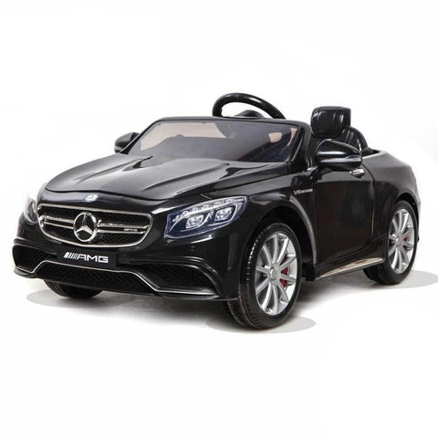 Licensed Mercedes S63 AMG Ride on 12v Kids Electric Car With Remote Control - Black