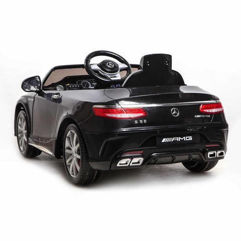 Licensed Mercedes S63 AMG Ride on 12v Kids Electric Car With Remote Control - Black 2