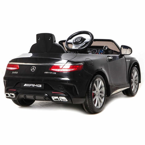 Licensed Mercedes S63 AMG Ride on 12v Kids Electric Car With Remote Control - Black 3