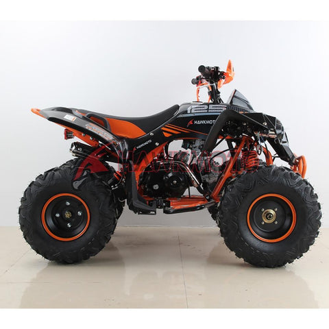 Hawkmoto Mega Raptor Kids 125cc Sports Quad Bike - Orange 2