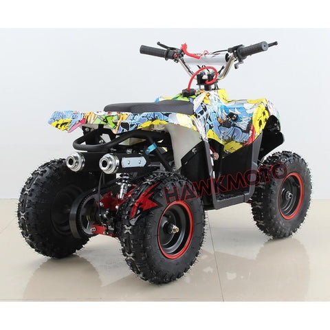 Hawkmoto Mini Explorer 49cc Kids Quad Bike - Sticker Bomb 4