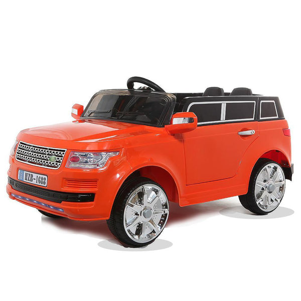 12V Orange Range Rover Style Battery Ride On Car