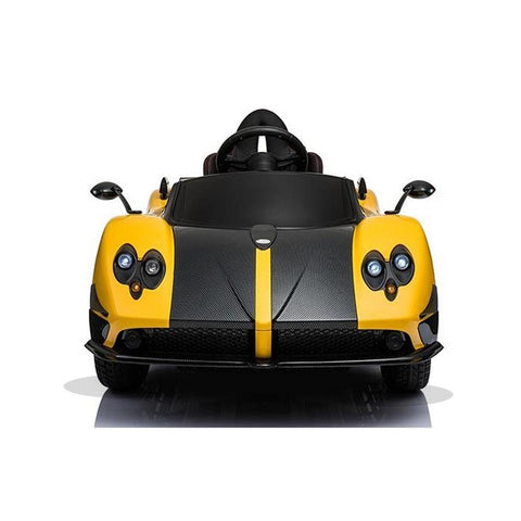 Licensed Pagani Zonda Cinque Roadster 12v Kids Ride on Electric Car With Remote Control - Yellow 2