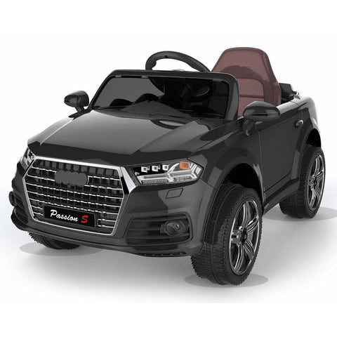 Battery Powered - 12V Black Q7 Kids Electric Ride On Car