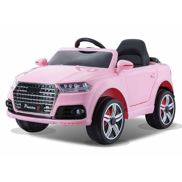 Battery Powered - 12V Pink Q7 Kids Electric Ride On Car