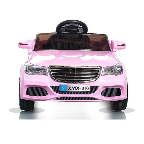 Pink C Class Saloon - 12V Kids' Electric Ride On Car 3