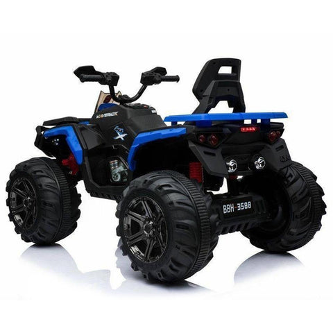 Predatour 12v Kids Electric Ride on Beach Quad Bike - Blue 2