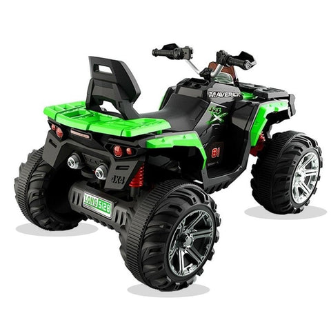 Predatour 12v Kids Electric Ride on Beach Quad Bike - Green 3