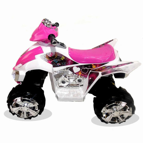 Predatour 12v Two Speed Electric Ride on Kids Quad Bike - Pink 2