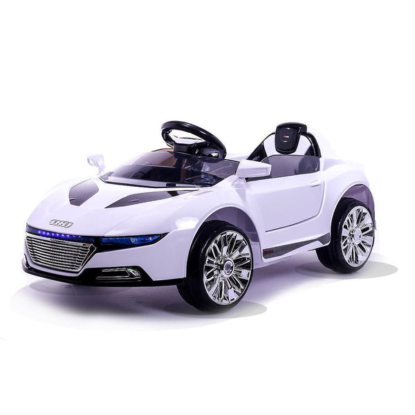 Battery Powered - 12V White R8 Roadster Ride On Car