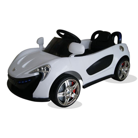 Sport Roadster 12v Electric Kids Ride on Car with Remote - White