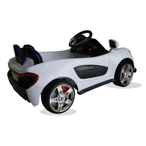 Sport Roadster 12v Electric Kids Ride on Car with Remote - White 2