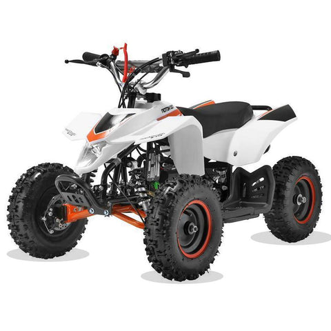 Kids Mini 50cc Quad Bike Avenger - White and Orange