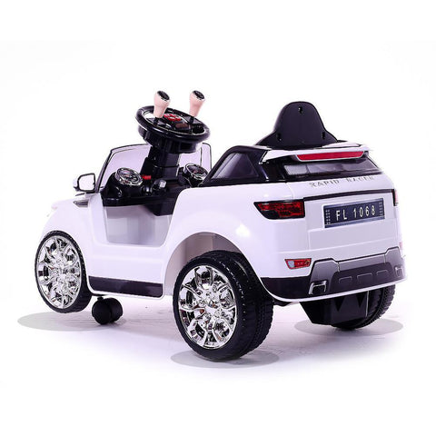 Battery Powered - 6V White Evoque Ride On Car 2