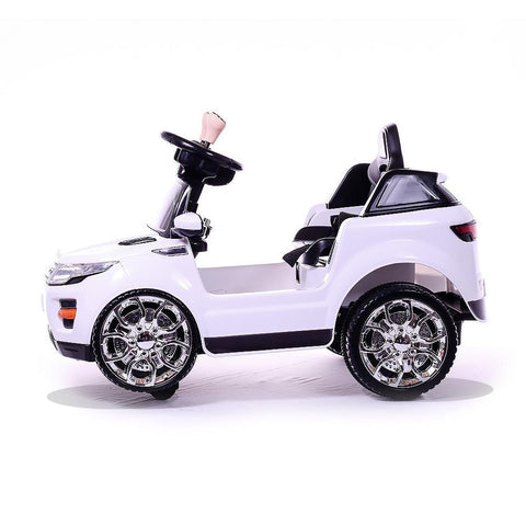 Battery Powered - 6V White Evoque Ride On Car 3