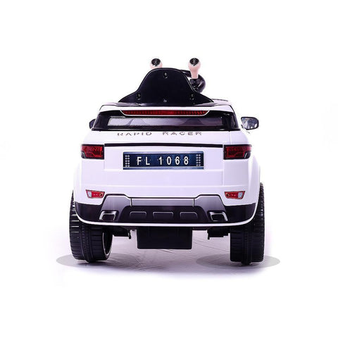 Battery Powered - 6V White Evoque Ride On Car 4