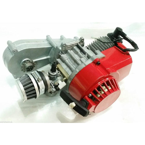 Complete Engine with Transfer Box Red Pull Start for 50cc Dirt Bike
