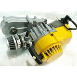 Complete Engine with Transfer Box Yellow Pull Start for 50cc Dirt Bike