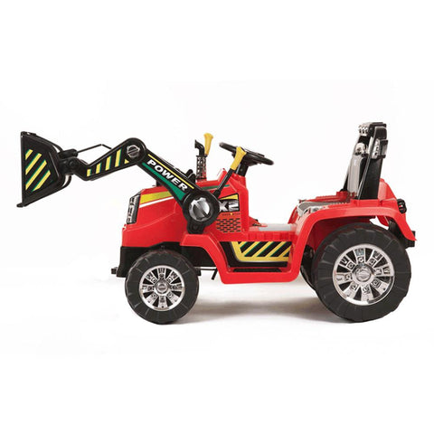 Red Twin Motor Tractor - 12V Kids Electric Ride On Tractor