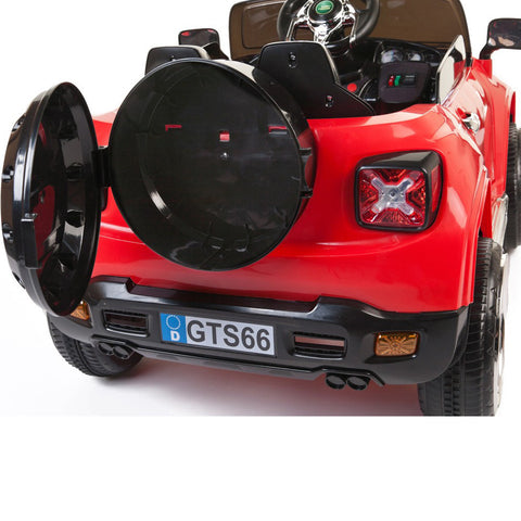 Kids 2 Seater Ride On Off Roader with Opening Doors - Red