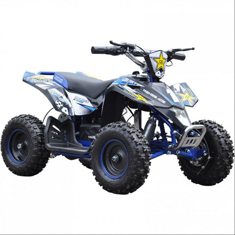Renegade LT100E Kids Electric Battery 1000w Quad Bike - Blue 3