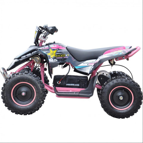 Renegade LT100E Kids Electric Battery 1000w Quad Bike - Pink 1