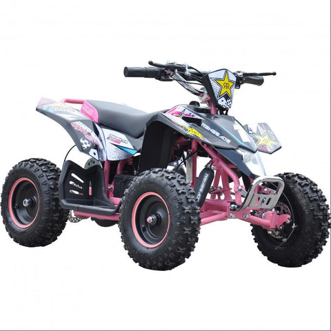 Renegade LT100E Kids Electric Battery 1000w Quad Bike - Pink 3