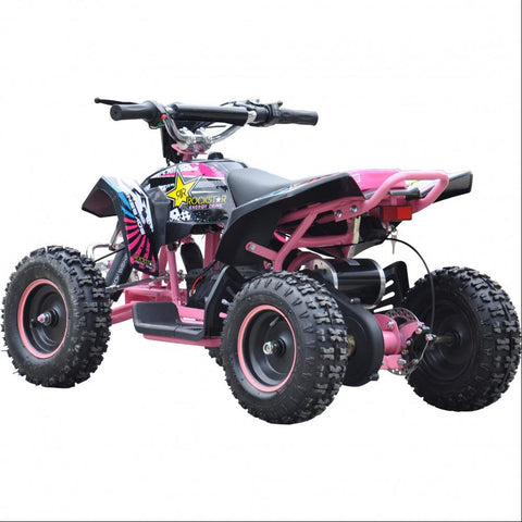 Renegade LT100E Kids Electric Battery 1000w Quad Bike - Pink 2