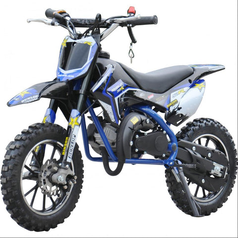 Renegade 50R Kids 49cc Petrol Mini Dirt Bike - Blue 2
