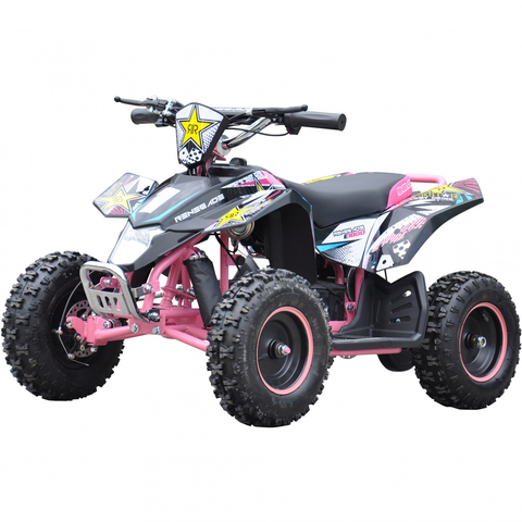 Renegade LT100E Kids Electric Battery 1000w Quad Bike - Pink
