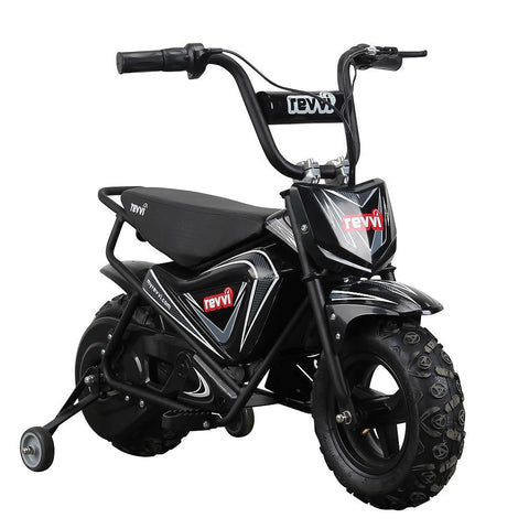 Revvi Kids Electric 250w Mini Dirt Motorbike - Black