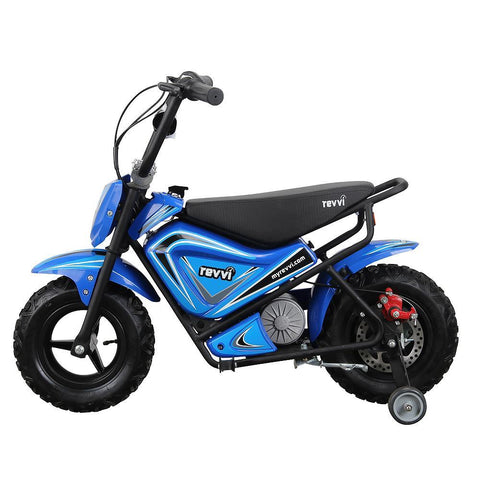 Revvi Kids Electric 250w Mini Dirt Motorbike - Blue 2