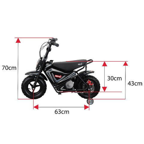 Revvi Kids Electric 250w Mini Dirt Motorbike - Black 4