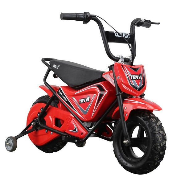 Revvi Kids Electric 250w Mini Dirt Motorbike - Red