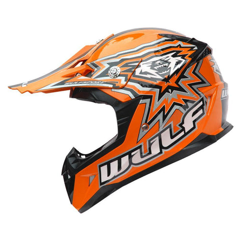 Wulfsport Junior Cub Flite Xtra Helmet - Orange