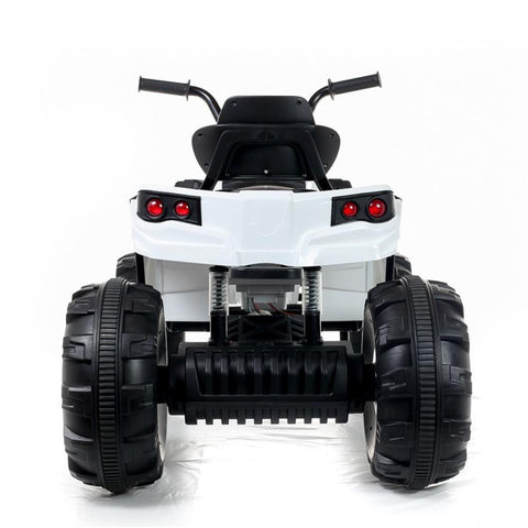 Kids Electric 12V Twin Motor Quad Bike - White