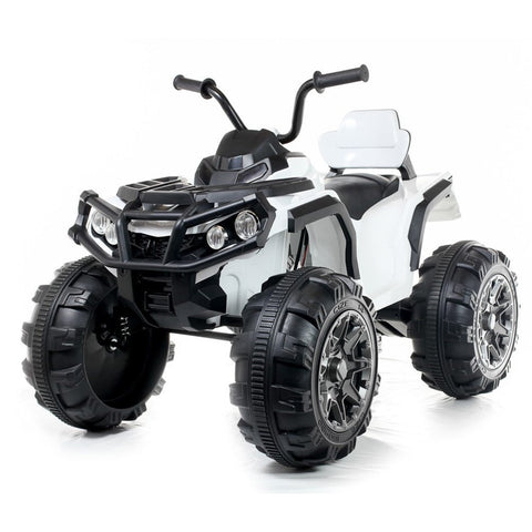 Electric 12V Twin Motor Quad Bike - White