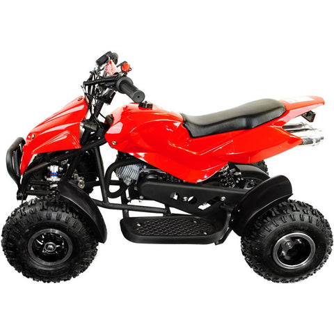 49cc Zipper Kids Petrol Mini Quad Bike - Red 1