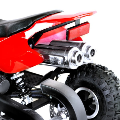49cc Zipper Kids Petrol Mini Quad Bike - Red 4