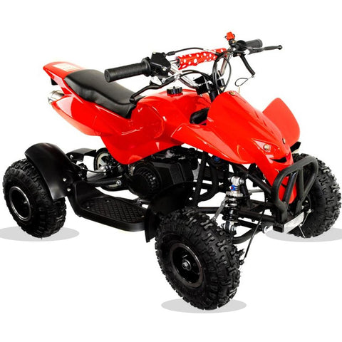 49cc Zipper Kids Petrol Mini Quad Bike - Red